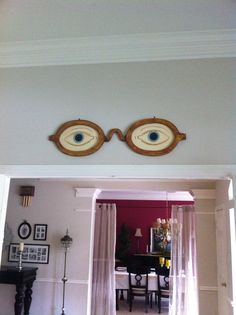 Eyes of Dr. TJ Eckleberg from The Great Gatsby: while I wouldn't want these in my house because they're kind of creepy, they're also kind of awesome too.
