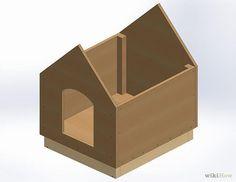 Faça você mesmo uma casinha para seu cão gastando muito pouco dinheiro.