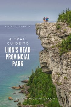 Lion's Head Provincial Park Trail takes you along the 200 foot high white limestone cliffs above the turquoise waters of Lake Huron with breathtaking views. Hiking Guide, Trail Guide, Ontario Parks, Toronto Ontario Canada, Montreal Canada, Places To Travel, Places To See, Park Trails, Hiking Trails
