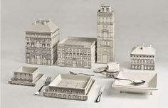 This Seletti 'Palace' Porcelain Tableware Stacks to Form a City #kitchen trendhunter.com