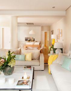 Inspiring Apartment by Natalia Zubizarreta Interiorismo Big Living Rooms, Home Living Room, Interior Design Living Room, Living Room Designs, Living Room Decor, Living Spaces, Bedroom Decor, Interior Modern, House Design