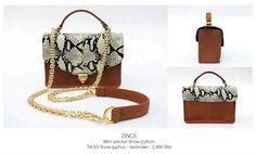 Zince classic : Mini satchel : Snow python : Tan brown  / For more information pls follow the link zinceshop.com or facebook/zince  or email : zinceshop@hotmail.com
