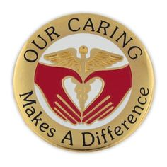 Our Caring Makes A Difference Pin, Nursing Pins, Medical Pins, Recognition  Pins In Stock Ready To Ship! Customize A Pin At PinMart.