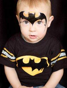 maquillage enfant facile halloween-garcon-batman