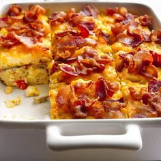 Bacon and Hash Brown Egg Bake Recipe | Key Ingredient