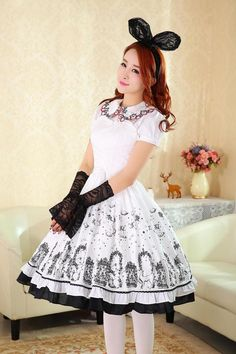 New Arrival IV: Dream of Lolita Iron Window and Cats Printed Lolita JSK >>> http://www.my-lolita-dress.com/dream-of-lolita-iron-window-cats-prints-lolita-jumper-dress-dl-262 [★Only $40.99★]