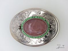 Check out this item in my Etsy shop https://www.etsy.com/listing/349431917/womans-belt-buckle-rose-quartz-vintage