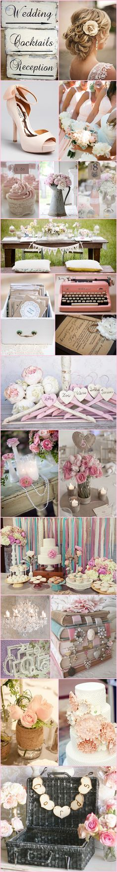 Shabby Chic Inspiration Board ~ Serendipity Corner...except there won't be any cocktails at my wedding lol
