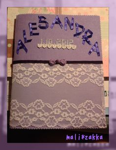 A sweet design of wedding love vow ... same as me, purple favor, Sandra handmade with love & best wishes