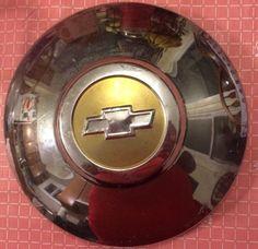 Vintage Chevy Bowtie Hubcap Hub Cap Silver Chrome Bow Tie Dog Dish  | eBay