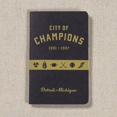 This notebook celebrates this heyday of Detroit, Michigan sports and is perfect for keeping score or collecting autographs.