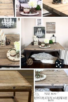 DIY RESTORATION HARDWARE BRICKMAKERS TABLE - complete with plans and instructions!