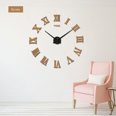 2017 new large roman wall clock acrylic mirror diy clocks home decoration living room wall stickers modern design Mirror Wall Clock, Wall Clocks, 3d Mirror, Acrylic Mirror, Wall Stickers Unique, Diy Gifts For Him, Diy Clock, Decorating With Pictures, Diy Home Decor