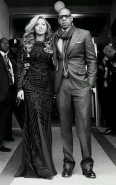 Beyonce and Jay Z at President Barack Obama's second inauguration, January 2013