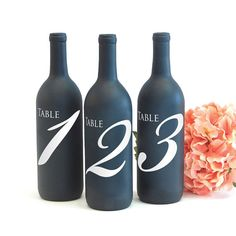 table number wine bottle vinyl decal for wedding centerpiece decoration