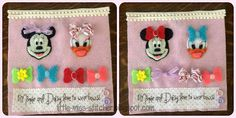 Minnie and Daisy dress-up page