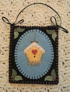 Such a sweet design for all the bird lovers out there! This adorable candle mat can be stitched up using wool felt or wool. It measures 12 inches and each of the mini mats measure 4 1/2 by 5 1/4. A pretty design to add some sweet summer charm to your decor.  The kit for this design (without the pattern) is available at this shop https://www.etsy.com/shop/oneoftheflock?ref=shop_sugg  This is an e-pattern and not a paper pattern! As soon as payment is received, your pattern will be available…