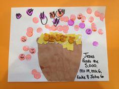 Jesus feeds the 5000 Loaves and Fishes Matt 14, Mark 6, Luke 9, John 6 (He Bids Them Come)