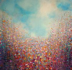 "Saatchi Art Artist Sandy Dooley; Painting, ""Field of Violet and Orange   (Currently on exhibition)"" #art"