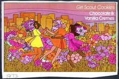 Girl Scout Cookie box 1973