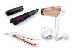 Heute glattes Haar, morgen schwungsvolle Locken übermorgen angesagte Wellen. Alle, die gern Neues ausprobieren, oder zwischendurch ihren Look ändern wollen, werden von den neuen Philips Haarpflege-Produkten begeistert sein.     Denn der Volume Multi-Styler, der MoistureProtect Haartrockner und der MoistureProtect Haarglätter von Philips trocknen und formen dein Haar nicht nur im Handumdrehen, sondern sind dabei auch noch besonders schonend und schützen dein Haar bestmöglich!