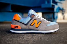 NEW BALANCE 574 (BABY BLUE/ORANGE) – Image #1