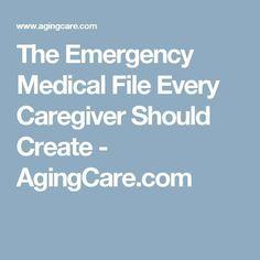 The Emergency Medical File Every Caregiver Should Create Lpn Programs, Nursing Programs, Certificate Programs, Alzheimer Care, Alzheimers, Understanding Dementia, Best Nursing Schools, Verbal Abuse, Nursing Care