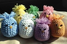 Set of 3 Easter Chicks Hand Crocheted by savedbygracecreation, $12.00
