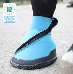 Medical hoof boot for injuries. If my horse would actually tolerate it this could be very useful.