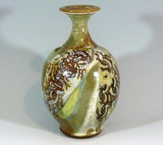 IMPORTANT CECIL STRAWN STUDIO POTTERY VASE - Ohio Art Pottery at its finest in hand-thrown stoneware with bravado glaze technique - @ E. M. Wallace Auctions & Appraisals www.EMWAA.com info@EMWAA.com