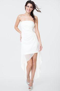 Side view of Teeze Me Strapless Glitter Jewel Corset Long Dress ...