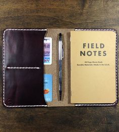 Leather Notebook Cover | Combine your notes and banknotes in this leather notebook cove... | Handbags, Wallets & Cases