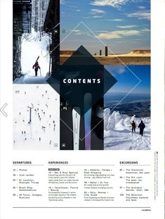 Magazine Layout Design, Glasgow, Contents, Utah, Editorial, March, Canada, Letters, Graphic Design