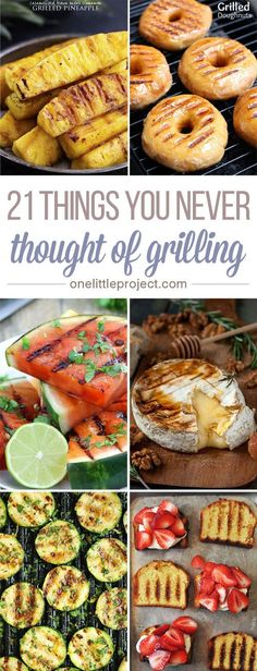 Switch things up this summer and throw some of these things you never thought of grilling on the barbecue while your meat cooks These look soooooo good Grilled donuts Ser. Summer Grilling Recipes, Summer Recipes, Grilling Ideas, Recipes For The Grill, Weber Grill Recipes, Barbecue Recipes, Desserts On The Grill, Grilled Vegetables, Vegetables On The Grill