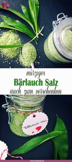 Bärlauch Salz, so hast du das ganze Jahr Frühling im Glas Spicy wild garlic salt is easy to make. You don't actually need a recipe … Wild Garlic, Garlic Salt, Garlic Spread, Dips, Spicy, Food And Drink, Yummy Food, Herbs, Healthy Recipes