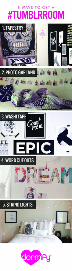 5 Easy Ways to Get a Tumblr Room!