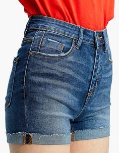 Super high waist shorts - Shorts | Stradivarius Hungary