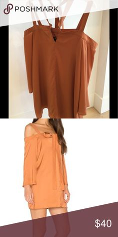 Long sleeve dress - handwash cold -fully lined - 100% poly -neckline tie detail -color: Amber The Fifth Label Dresses