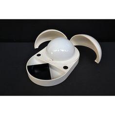 Lampada Tapira designer Monti produttore Fontana Arte - Italia anno 1974 colore Bianco in plastica
