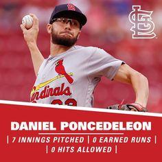 What a debut for Daniel Poncedeleon! National Baseball League, Major League Baseball Teams, Cardinals Baseball, St Louis Cardinals, Baseball Jerseys, Baseball Cards, Basketball Game Tickets, Basketball Hoop, Backyard Baseball