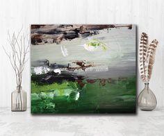 "Green Brown Abstract Art Print ""Necessary"" by LaTanya Renee"