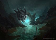 Mysterious Grotto - Joseph Zhou Art