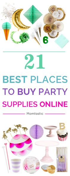 I routinely scour the internet for the perfect party detail whether its at a onestop party shop or a boutique handmade Etsy shop Today Im spilling my secrets by letting y. Online Party Supplies, Diy Party, Party Ideas, Unique Party Themes, Cheap Party Decorations, 21st Party, Party Hacks, Event Themes, Party Favors
