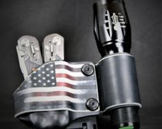 The Patriot-Multi-tool Holster for Leatherman, Gerber, or your favorite tool. by EthosSurvival on Etsy Tactical Pouches, Tactical Knives, Gerber Bear Grylls, Swiss Army Pocket Knife, Kydex Sheath, Kydex Holster, Glass Breaker, High Carbon Steel, Folding Knives