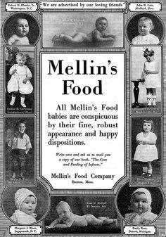 Vintage advertisement for Mellins (Baby) Food 1922