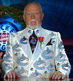 Don Cherry.best dressed man in Hockey Vancouver Canucks, Don Cherry, Ice Hockey Teams, Hockey Stuff, Canada Hockey, Hockey Pictures, Hockey Rules, Florida Panthers, Best Dressed Man