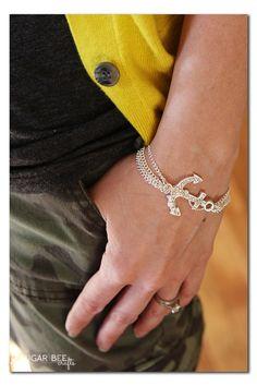 Nautical Chain Bracelet Tutorial ~ Sugar Bee Crafts