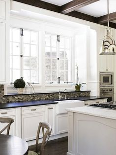 sherwin williams alabaster cabinet | Brian Watford Interiors - kitchens - Sherwin Williams - Alabaster ...