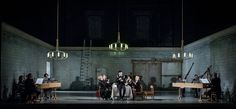 L'Incoronazione di Poppea from Opera North. Production by Tim Albery. Set and costumes by Hannah Clark.