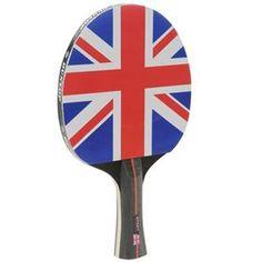 Dunlop 1000 Union Jack Flag Table Tennis Bat for only £12.99 #tabletennisset #tabletennis RacketCentre